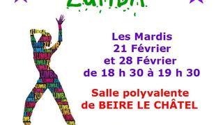 OFFRE DECOUVERTE ZUMBA BEIRE LE CHATEL